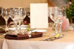 Table arrangement Stock Photo