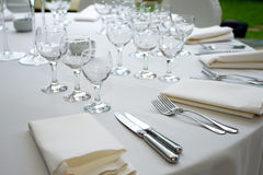 Table arrangement Royalty Free Stock Image