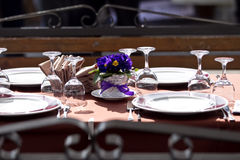 Table arrangement Royalty Free Stock Images
