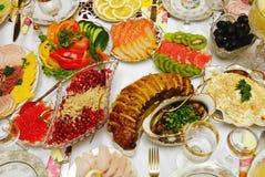 Table arrangement Stock Image