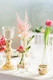 Table arrangement stock photos