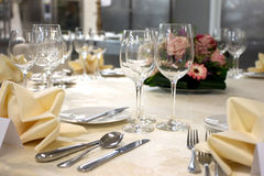 Table arrangement - detail Royalty Free Stock Photo