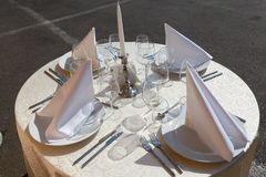 Table arrangement Stock Images