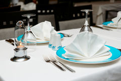 Table arrangement in an expensive restaurant Stock Photography