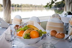 Table arrangement with fruits Stock Image