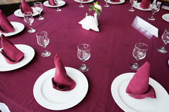 Table arrangement Stock Photography