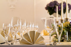 A Table arrangement in a restaurant Royalty Free Stock Images