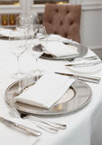 Table arrangement in a restaurant Royalty Free Stock Photo