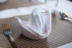 Table arrangement in restaurant Stock Images