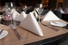 Table arrangement in a restaurant Stock Image