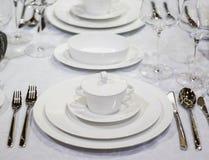 Table arrangement Royalty Free Stock Photos