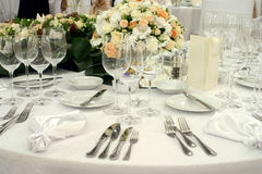 Table arrangement Royalty Free Stock Photography