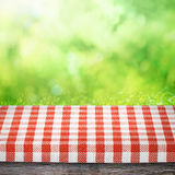 Table as picnic background Stock Image