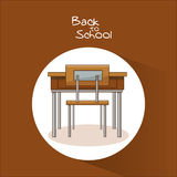 Table of back to school design Stock Photography