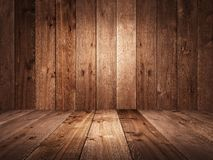 Table and background of aged planks. Texture of old boards. Vintage style. 3D render royalty free illustration
