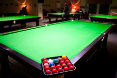 The billiard Stock Photography