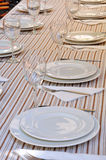Table for banquet Stock Photo