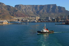 Table Bay harbor Cape Town Royalty Free Stock Images