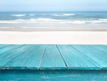 Table at the beach Royalty Free Stock Image