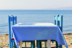 Table on the beach Royalty Free Stock Image