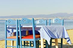 Table on the beach Royalty Free Stock Images