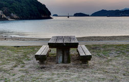 Table and benches Royalty Free Stock Photos