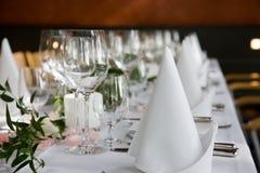 table Bien-étendue Photographie stock