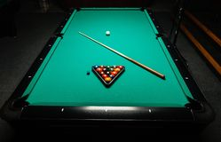 Table for billiards and ball top view Stock Images