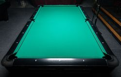 Table for billiards and ball top view Stock Photo