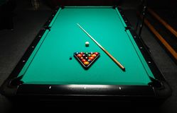 Table for billiards and ball top view Royalty Free Stock Images