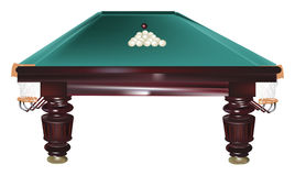 Table for billiards isolated on white Royalty Free Stock Image