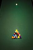 Table for billiards top view Stock Photo