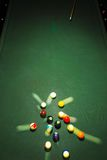 Table for billiards  top view Stock Photos