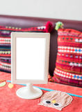 Table blank menu Royalty Free Stock Photo