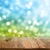 Table with bokeh background Royalty Free Stock Images