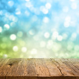 Table with bokeh background Stock Photos