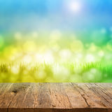Table with bokeh background Royalty Free Stock Image