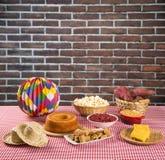 Table of brazilian festa junina Stock Images