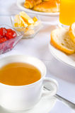Table with breakfast Royalty Free Stock Photography
