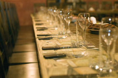 Table for business party Stock Image