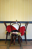 Table in cafe Stock Photo