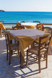 Table cafe on the shore Royalty Free Stock Photo