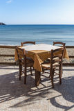 Table cafe on the shore Royalty Free Stock Photos