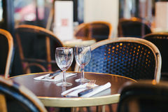 Table in cafe Royalty Free Stock Images