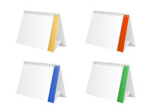 Table calendar. A  table calendar in different colours Royalty Free Stock Image