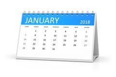 Table calendar 2018 january Stock Photo