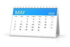 Table calendar 2018 may. 3d rendering of a table calendar for your events 2018 may Stock Images