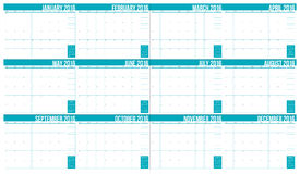 2016 table calendar. Simple table calendar for 2016 year Royalty Free Stock Image