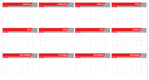 2016 table calendar Royalty Free Stock Photography