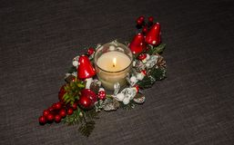 Table Candle decoration Stock Photo